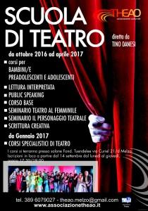 ASSOCIAZIONE THEAO, SCUOLA DI TEATRO – I CORSI 2016/2017