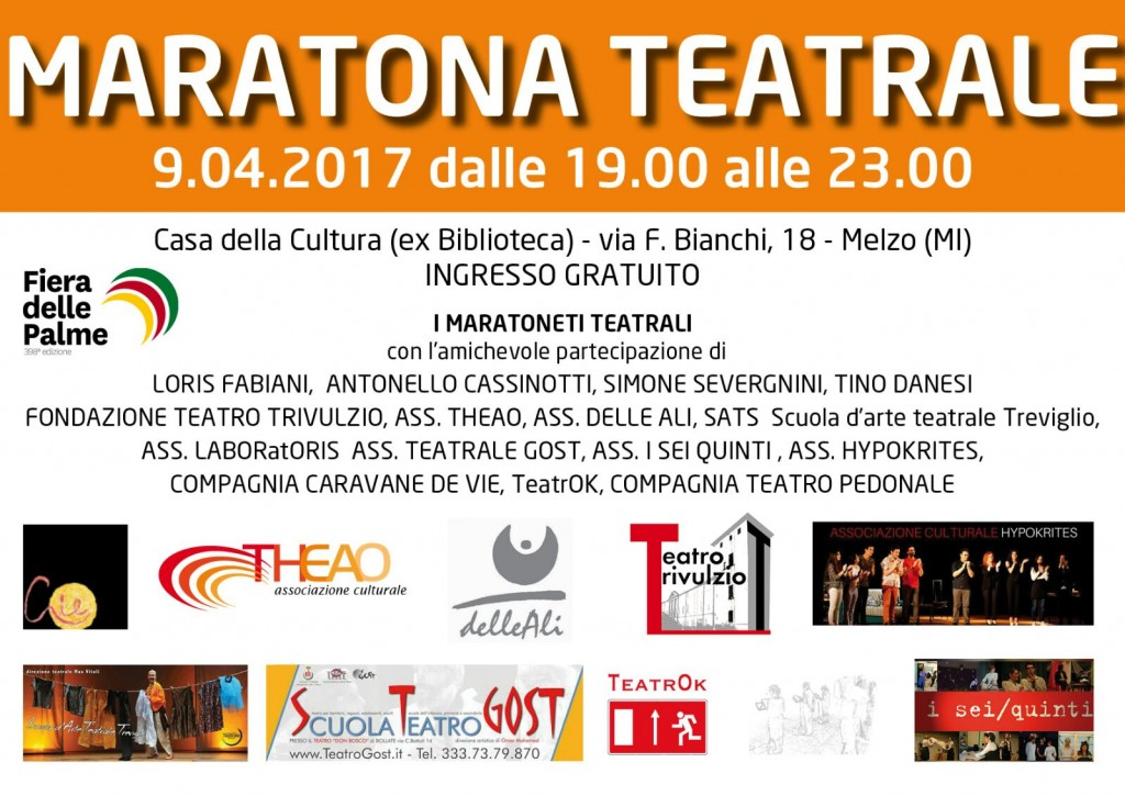 Fiera delle Palme 2017 Maratona Teatrale